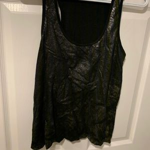Black tank top with shiny design